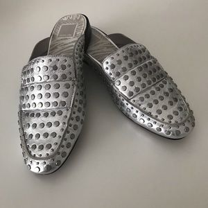 Dolce Vita Silver Studded Mules